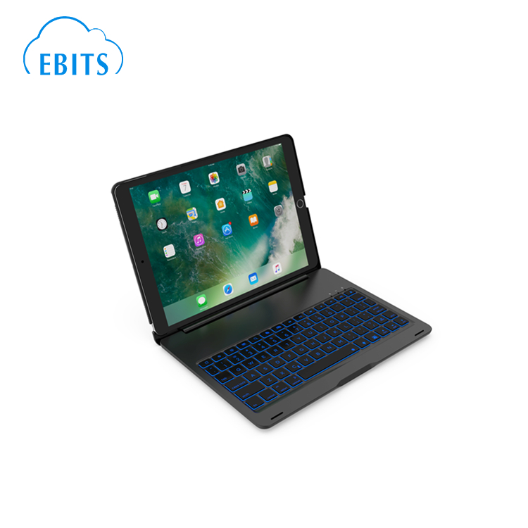 Aluminium backlit Bluetooth keyboard case for ipad 10.5