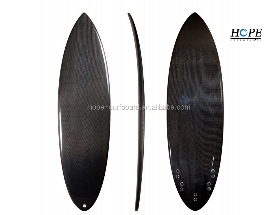 6'0''Round Tail Carbon Fiber Surfboard with Channel Bottom