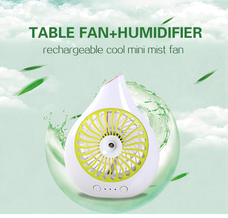 Hot Sale mini handheld water spray fan outdoor water mist fans for promotion solar ceiling fan