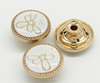 new arrivel wholesale fashion metal button with gold color for garment