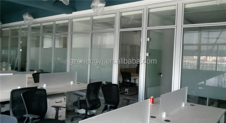 Office partition wall bright floor to ceiling room dividers
