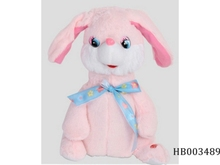Plush music dancing patting ear rabbit