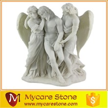 Hand craved feature stone status on sale, garden feature sculpture
