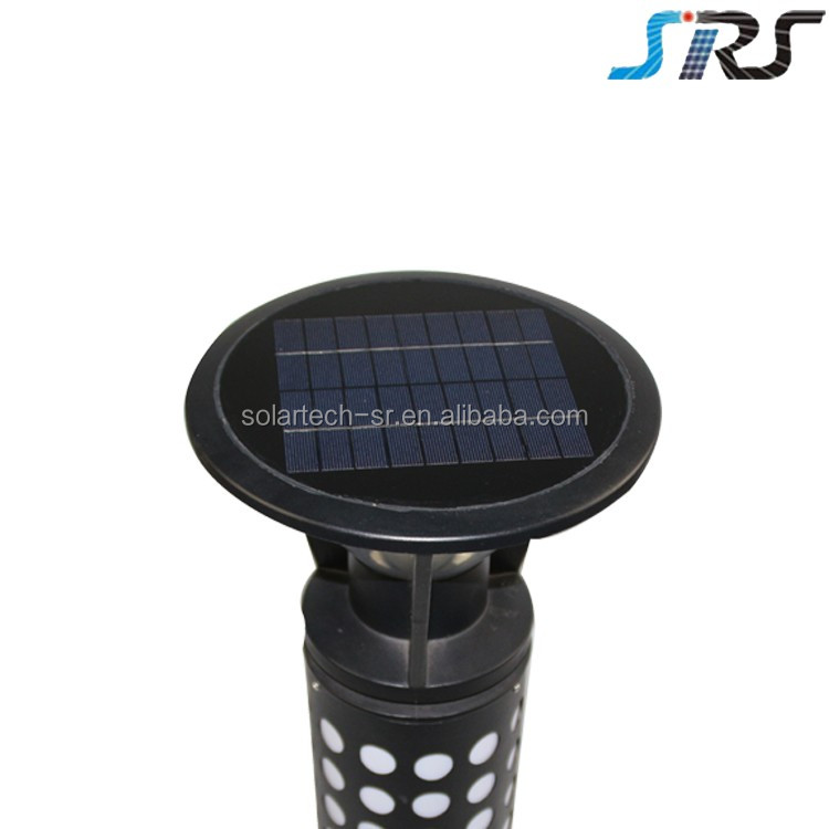 SRS new design stainless steel colourful solar garden lawn lamp