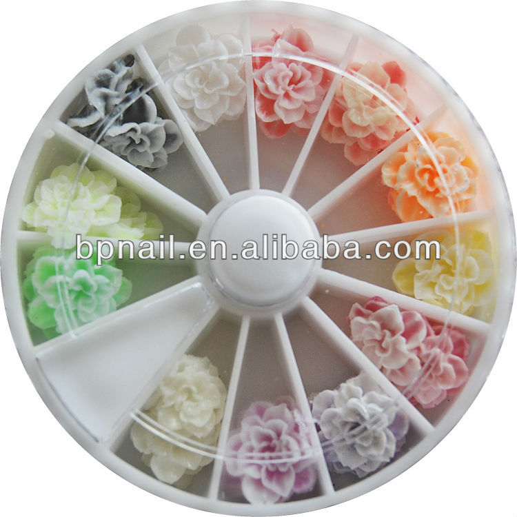 3D plastic nail art decoration/flower nail art fimo/fruit decoration nail art
