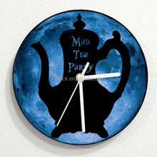 Alice in Wonderland - Mad Tea Party - Blue Moon - Wall Clock