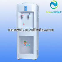 Standing Water dispenser with Storage Cabinet , standing hot and cold water dispenser
