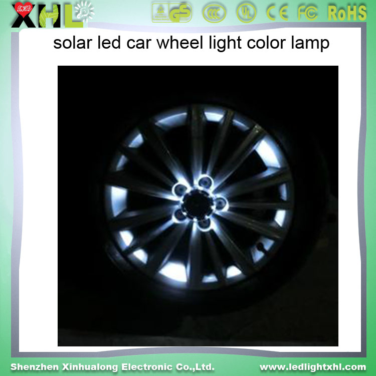 Car Auto 12 LED Solar Energy Flash Wheel Tire Light Lamp Decoration Light