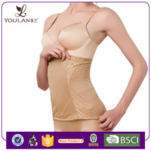 Spandex / Cotton Body Shape Support Zipper Post Pregnancy Girdle