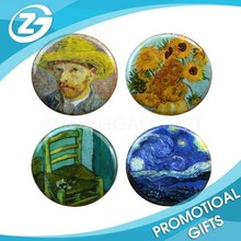 Van Gogh Set of Four Round Refrigerator Magnets