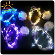 Multicolor Glowing Wedding Decor outdoor strand CR2032 Batteries Operated Flashing Lights