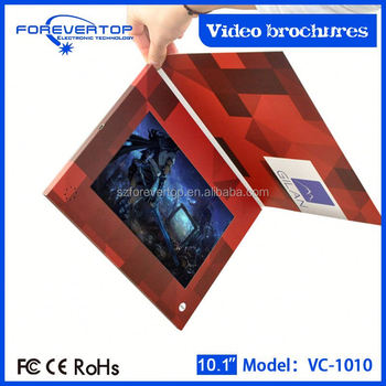 Factory lowest price 10 inch video brochure for wheels