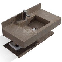 solid surface acrylic wall mounted bathroom sink