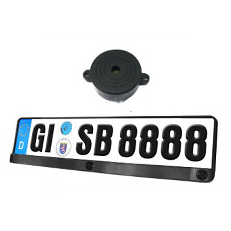 3 in 1 Europlate reverse Camera Backup Video Parking Sensor With Buzzer