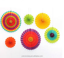 Hot sell mult-colorl wedding favors, Paper Fans for wall decoraion