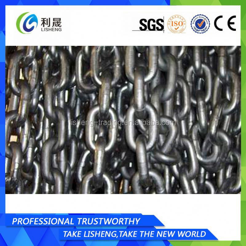 Studless Anchor Chain Nice Quality Steel Round Bar For Marine Anchor Chain