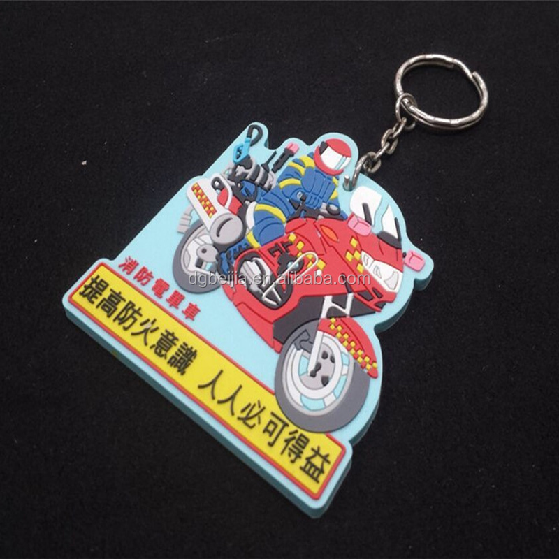 Supplier Popular Personalized Wedding Gift 3D Soft Rubber motorcycle keychain Keyring