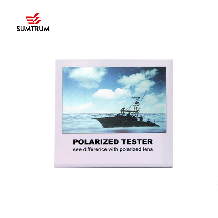 invisible effect polarized test card with acrylic display - BOAT