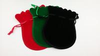 Black Custom Velvet Jewelry Gift Packaging Bag Pouch with Logo Printing