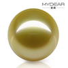 12-14mm natural south sea loose pearl with gold color for DIY