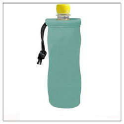 Customized neoprene bottle cover with drawstring
