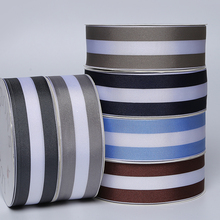 UK heat transfer woven striped tri-stripe grosgrain printed ribbon with logo printed