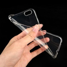 LOGO print Custom Clear Transparent Soft TPU Case for iPhone 6 6s & Other Mobile Phones