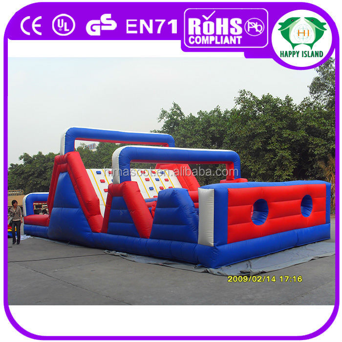 HI inflatable arched bouncer slide cheap inflatable obstacles course