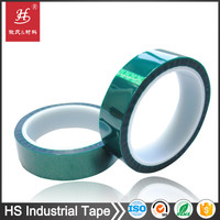 12 year factory thermal resistant insulation pressure sensitive 3m green pet masking polyester film tape
