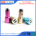 Special designed emergency hammer shaped dual usb car charger