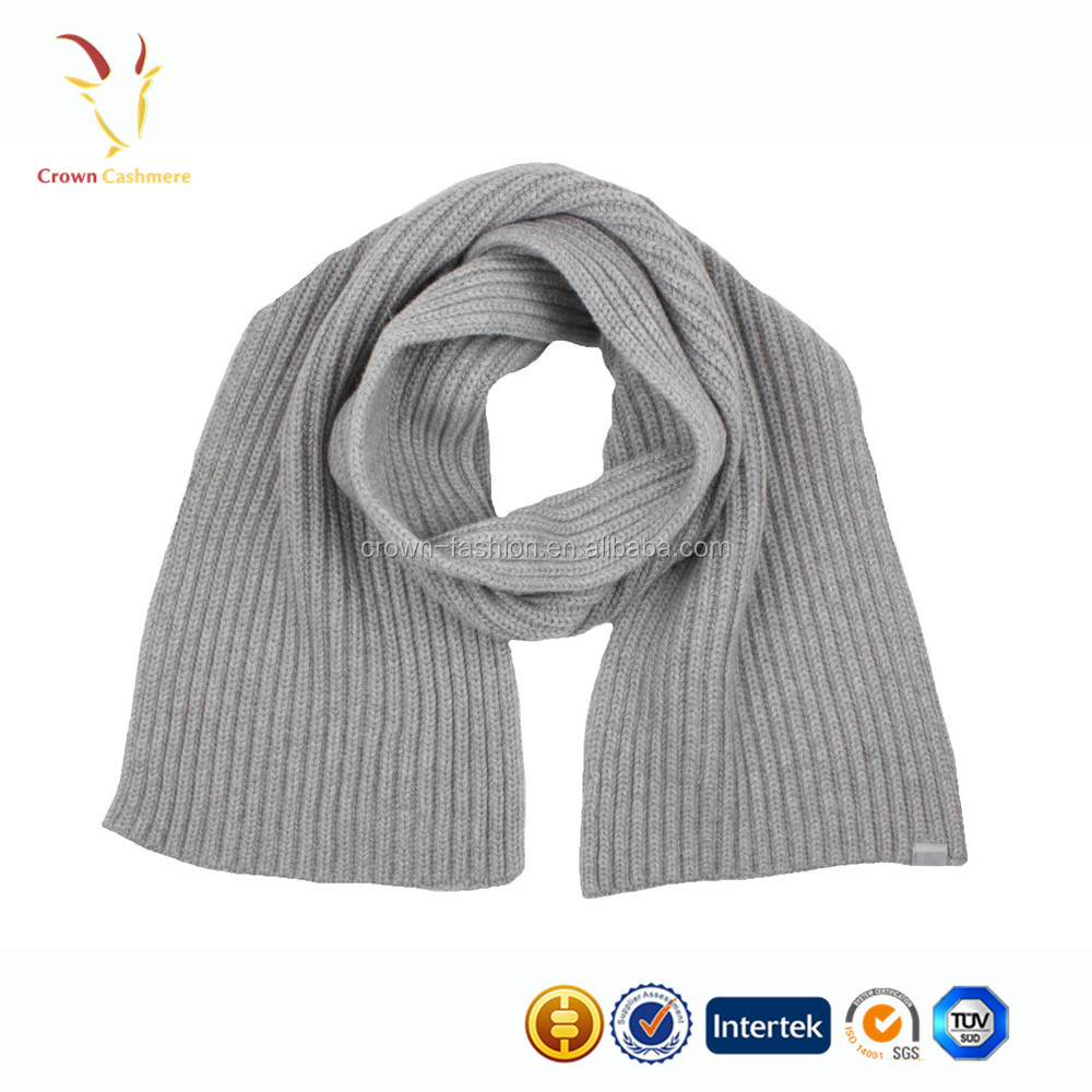 New style Girls chunky soild color winter knitted scarf