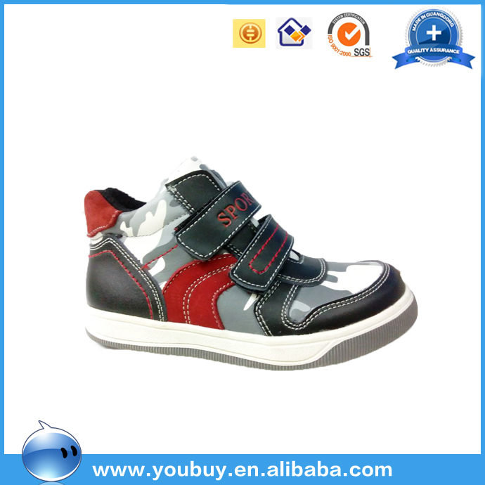 Light weight military sport shoes for boys, children leather sneakers shoes city guangzhou manufacture