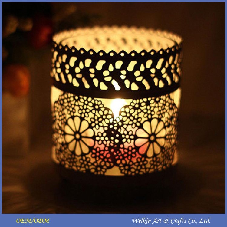 Cheap metal lantern candle holder for promotional gift