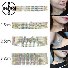 Simple Newest Fashion Jewelry Accessories Bohemia Crystal Choker Necklace