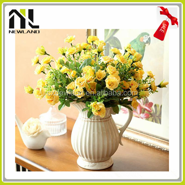 High Quality Fabric Home And Wedding Decoration Ceramic Flower Pots