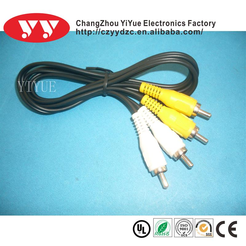 YiYue Factory High Quality RCA Jumper Cable/Audio Cable/3 RCA To 3 RCA