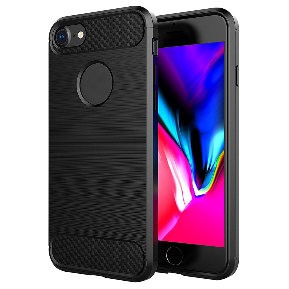 For <strong>iPhone</strong> 7 Case Carbon Fiber Design, Shockproof Soft TPU Case for <strong>iPhone</strong> 7
