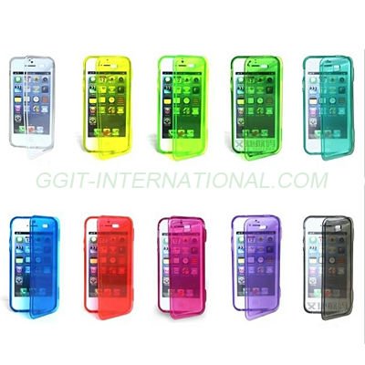 Transparent Flip Case for Galaxy S4 mini i9190 TPU Flip Cover