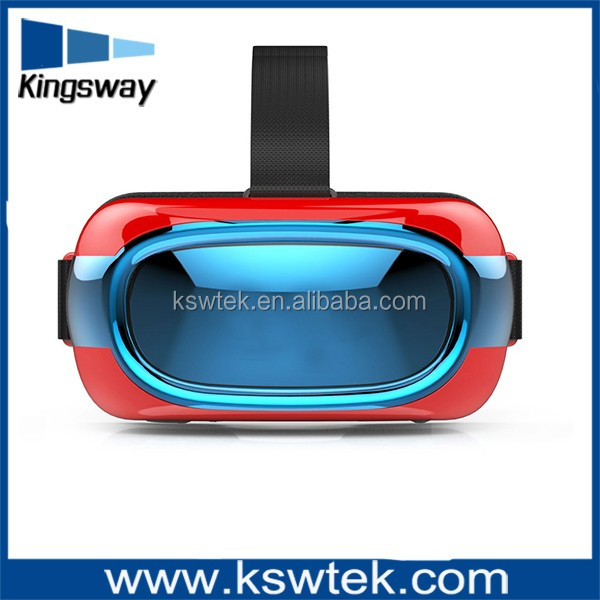 VR 3D Glasses Virtual Reality VR Box , 120 view angle glasses with headphone , skype:linda.cuicui