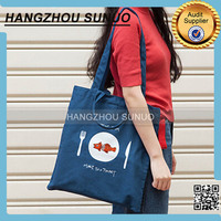 Wholesale Small College Girls Shopping Canvas Shoulder Bag
