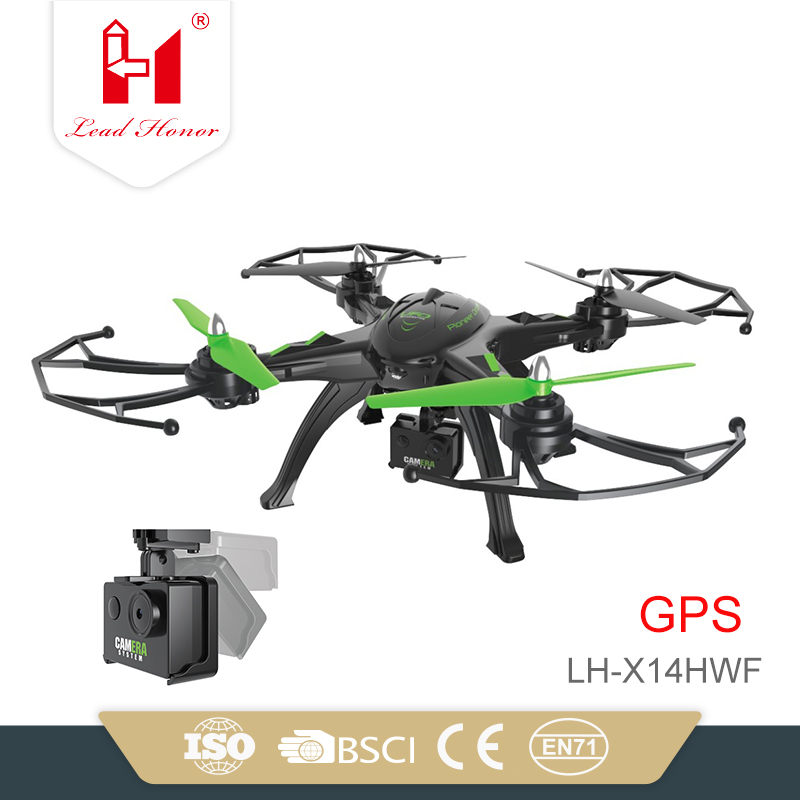 LH-X14HWF 4CH 6-Axis best product gps quadcopter rc camera drone with hd camera and GPS