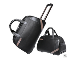 PU Material Luggage Trolley Bag Big Capacity Business Travel Luggage Bag Sky Travel Luggage Bag