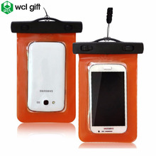 Promotional gifts mobile phone blocking swimming beach pvc waterproof bag for phone