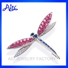 animal shaped dragonfly rhinestone pendant jewelry