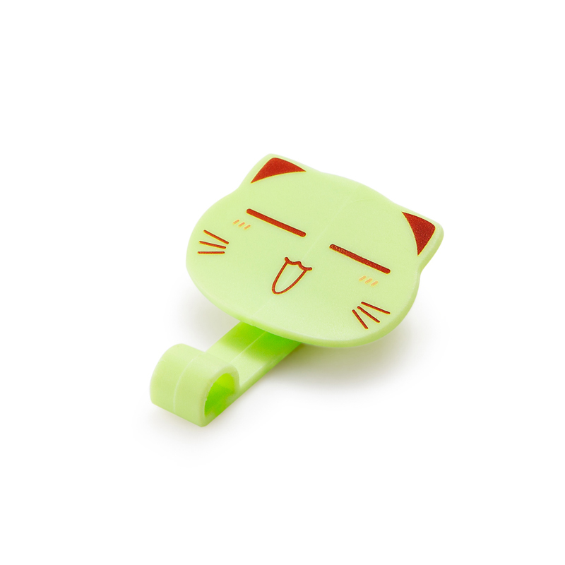 WholeSale Stock Small Order Cute Cat Dustbin Fixing Anti-slip <strong>Clip</strong> (2 Piece)