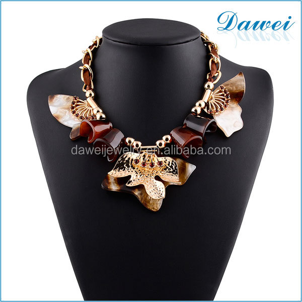 new update irregular resin alloy chain necklace in egypt