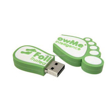 novelty feet shaped pvc usb sticks with custom logo