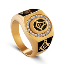 JM-19 Golden Ring Young Boy Gents 18k Gold Diamond Ring Design