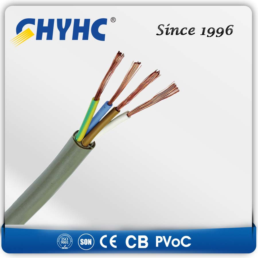 YY Grey LSZH Sheath XLPE Insulation Control Flexible Cable to BS6500 Copper Conductor 300/500V 4 core 6mm flexible cable