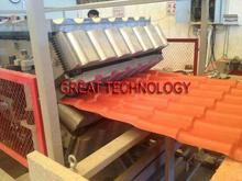 PVC glazed/corrugated/wave plastic roofing sheet/plate/board production line